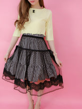 画像をギャラリービューアに読み込む, Classical tulle ribbon skirt (black) - Poupee Boutique