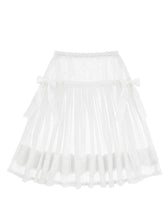 画像をギャラリービューアに読み込む, Classical tulle ribbon skirt (white) - Poupee Boutique