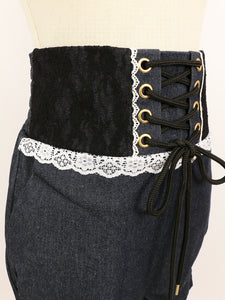 Corset short-pants (denim) - Poupee Boutique