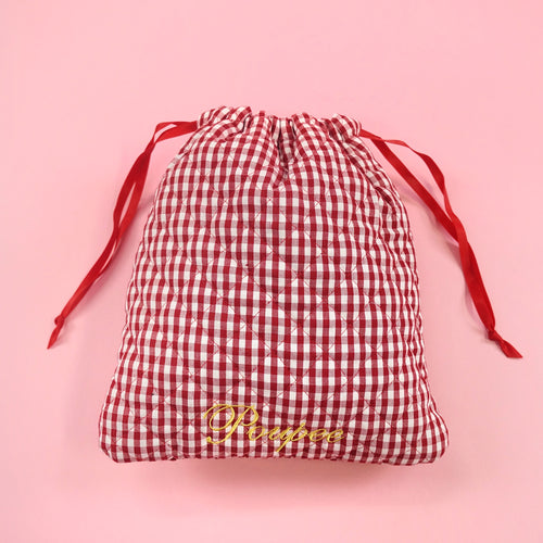Drawstring pouch (red) - Poupee Boutique
