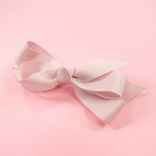 Petit grosgrain ribbon barrette (pink) - Poupee Boutique