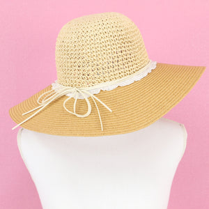 Cotton lace straw HATS - Poupee Boutique