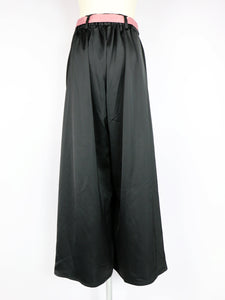 Ribbon slit wide pants - Poupee Boutique