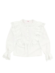 Heroine lace blouse (white) - Poupee Boutique