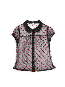 Fifi Chachnil dot tops (black) - Poupee Boutique