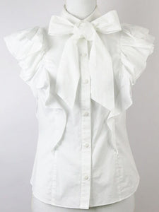 Ribbon Frill Tops - Poupee Boutique