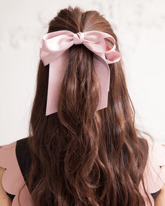 Ribbon hair gom (pink) - Poupee Boutique