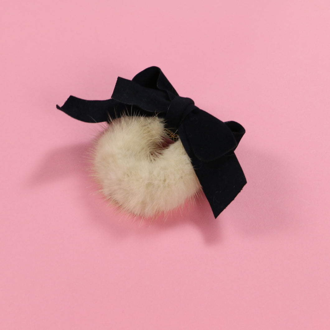 Fur ribbon (black) - Poupee Boutique
