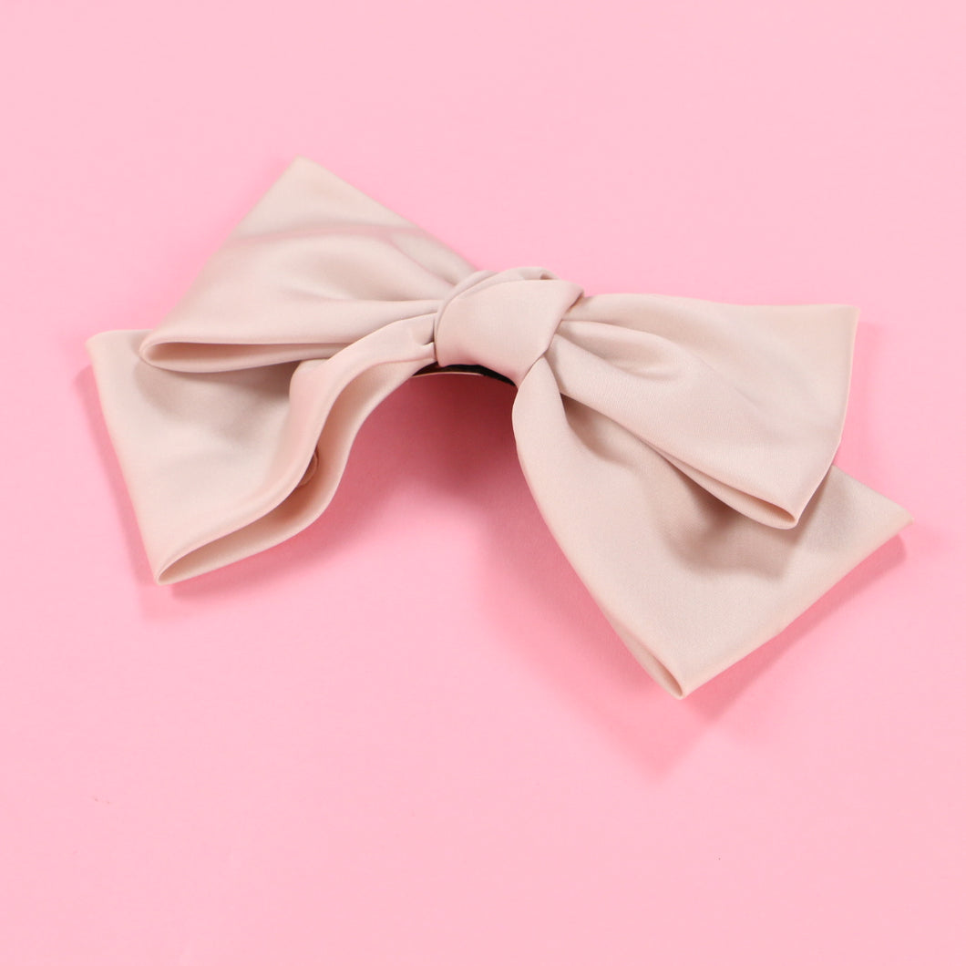Ribbon barrette (pink) - Poupee Boutique