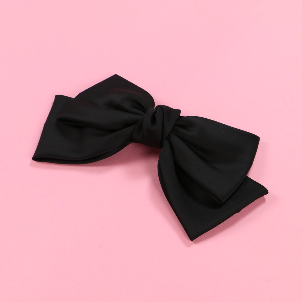 Ribbon barrette (black) - Poupee Boutique