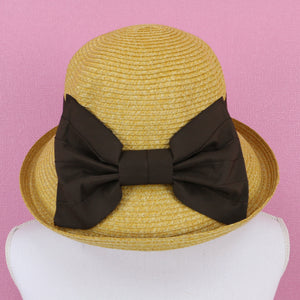 Brown ribbon HATS - Poupee Boutique