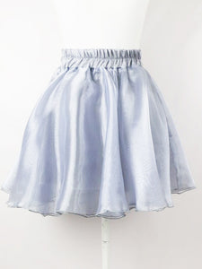 Chiffon skirt-mini (gray) - Poupee Boutique