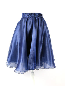 Chiffon skirt-medium (navy) - Poupee Boutique