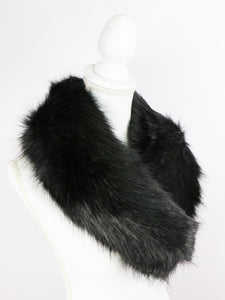 Fur tippet (black) - Poupee Boutique