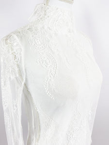 High-necked lace tops - Poupee Boutique
