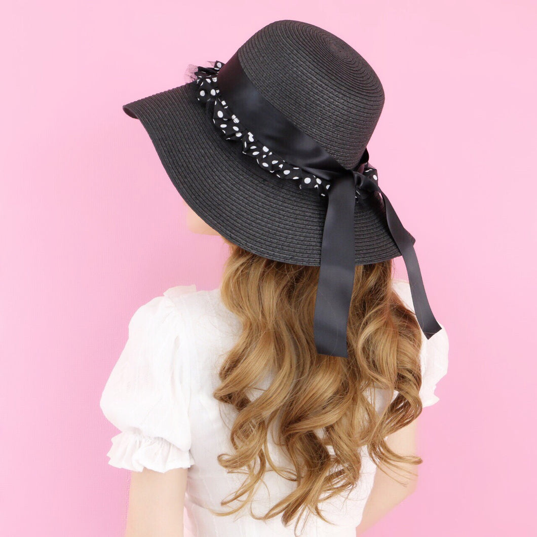 Dot frill ribbon HATS - Poupee Boutique