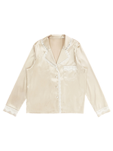画像をギャラリービューアに読み込む, Satin lace shirt (pink gold white lace) - Poupee Boutique