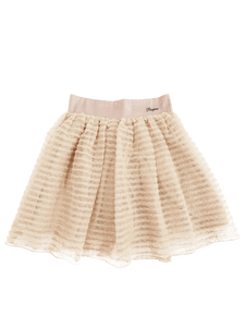 Frill mesh skirt (pink beige) - Poupee Boutique