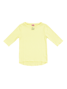 White flower tops (yellow) - Poupee Boutique