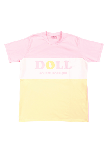 BI-COLOR T-Shirts (yellow) - Poupee Boutique
