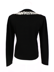 Dressy knit jacket (black) - Poupee Boutique