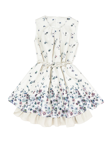 Flower print one-piece - Poupee Boutique