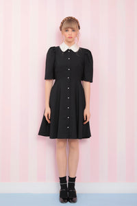 Pearl collar one-piece (black)