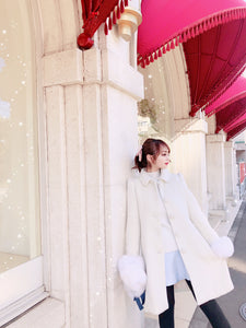Snow drop coat (off-white) - Poupee Boutique