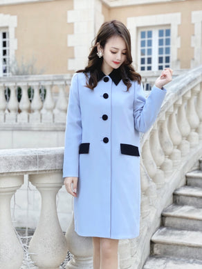 Catherine coat (lavender) - Poupee Boutique