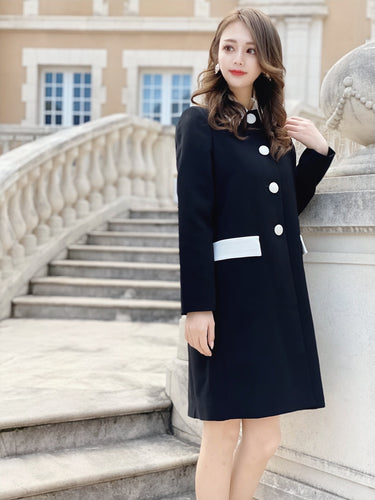 Catherine coat (black) - Poupee Boutique