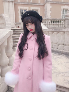 Snow drop coat (pink) - Poupee Boutique