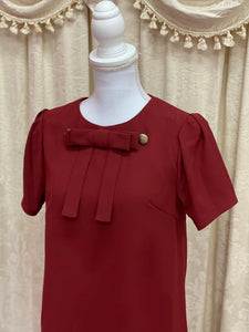 Cape setup one-piece (wine) - Poupee Boutique