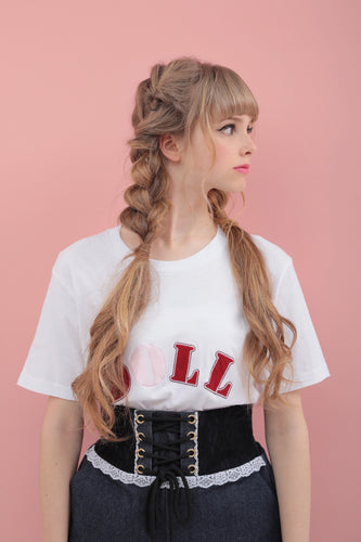 DOLL T-shirt (white) - Poupee Boutique