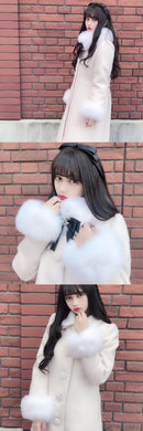 Snow drop coat (pink beige)