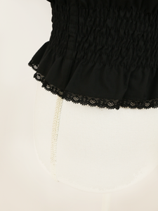 Maria tops (black) - Poupee Boutique