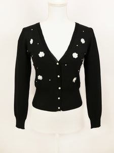 Emily cardigan (black) - Poupee Boutique