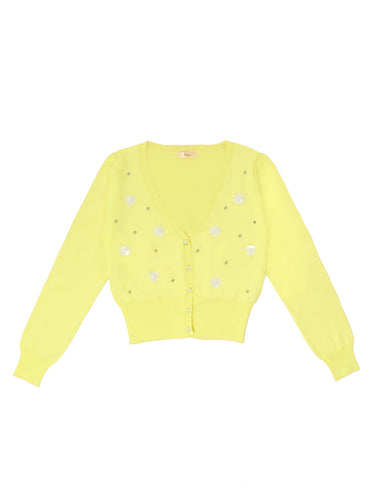 Emily cardigan (yellow) - Poupee Boutique