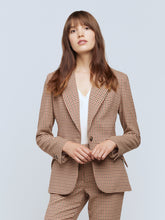 Load image into Gallery viewer, Chamberlain Blazer Tan/Burgundy Houndstooth