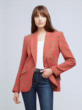 Load image into Gallery viewer, Chamberlain Blazer Fiery Red/Camel Houndstooth