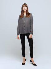 Load image into Gallery viewer, Nina Blouse Charcoal Grey/Ivory Biarritz