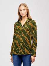 Load image into Gallery viewer, Nina Blouse Dark Moss Verona