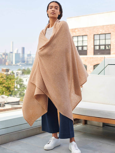 Cashmere Travel Wrap Caramel