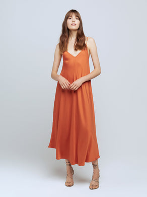 Lorraine Dress Rust