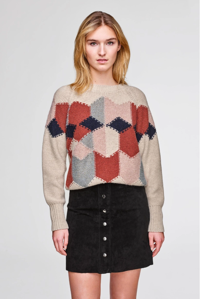Diamond Intarsia Sweater
