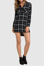 Load image into Gallery viewer, Fray Hem Shirtdress