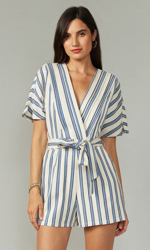 Josie Striped Romper