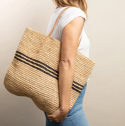 Luxe Stripe Tote Bag