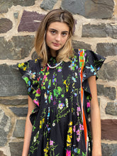 Load image into Gallery viewer, Nairobi Kaftan  Black Floral