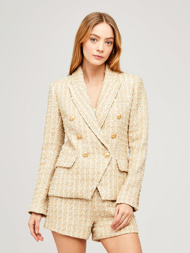Kenzie Tweed Blazer Rose Gold