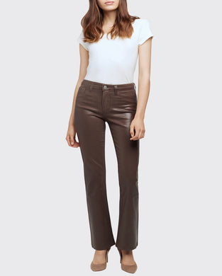 Oriana Coated Jean Cocoa